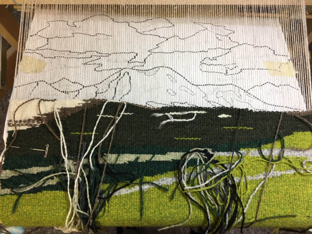 Tapestry in process